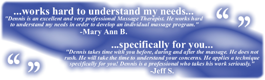 Deep Tissue Massage Testimonial Box